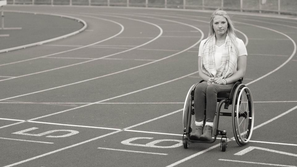 Sammi Kinghorn uses the Ottobock Voyager Evo manual wheelchair.