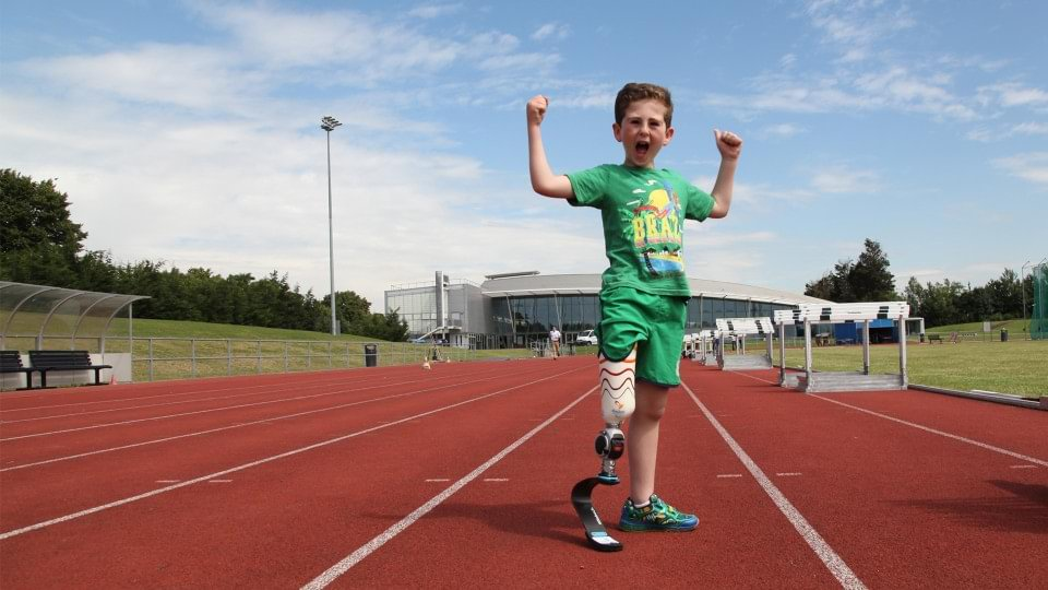 Blade Boy Rio is the first in the UK and Ireland to be fitted by Dorset Orthopaedic with Ottobock's junior running blade